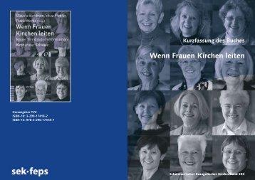Wenn Frauen Kirchen leiten - Schweizerischer Evangelischer ...