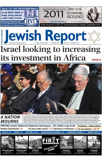 Israel looking to increasing its investment in Africa - South African ...