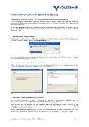 Mehrplatzinstallation Volksbank Office Banking
