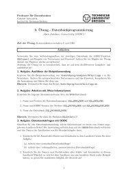 9. ¨Ubung - Datenbankprogrammierung - Datenbanken
