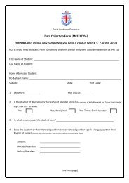 Data Collection Form (MCEECDYA) - Great Southern Grammar