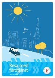 Resa med färdtjänst - Färdtjänsten - Stockholms läns landsting