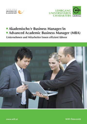 Akademische/r Business Manager/in Advanced Academic Business ...