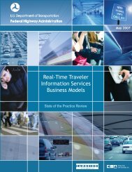 Table of Contents - FHWA Operations - U.S. Department of ...