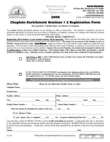 2008 chaplain enrichment seminar 3 registration form