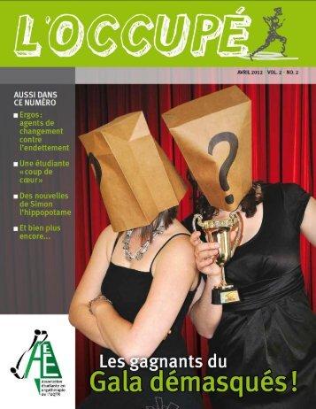 L'Occupé, Vol 2, No 2, avril 2012 - Université du Québec