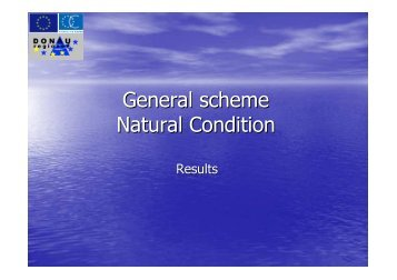 General scheme Natural Condition - Donauregionen