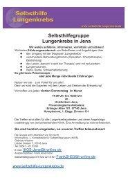 Selbsthilfegruppe Lungenkrebs in Jena