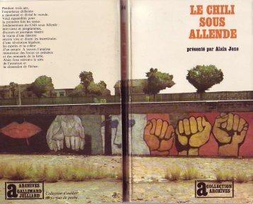 Le Chili sous Allende - Salvador Allende