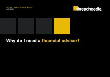 Why do I need a financial adviser? - Threadneedle Investments
