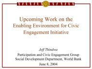 Upcoming Work on the Enabling Environment for Civic ... - SASANet