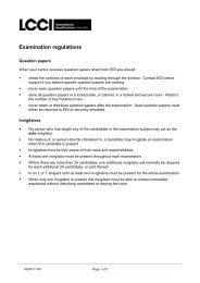 Examination regulations - LCCI International Qualifications