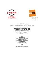 PRESS CONFERENCE - Festival Internazionale del Film di Roma