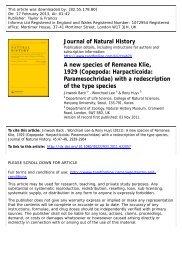 A new species of Remanea Klie, 1929 (Copepoda ... - Luciopesce.net