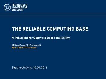 The Reliable Computing Base - A Paradigm for Software ... - DanceOS