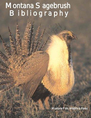 Montana Sagebrush Bibliography - Back