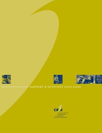 Rapport d'activités 2004-2006 - CRIR
