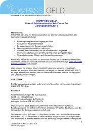 Jahresbericht 2011 als pdf-Datei und als Download - Kompass Geld ...