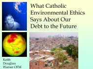 What Catholic Environmental Ethics Says About Our Debt to the Future