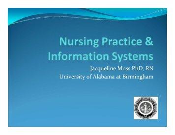 Jacqueline Moss PhD, RN University of ... - Digital Concourse