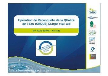 ORQUE Scarpe aval sud - DRAAF Nord-Pas-de-Calais