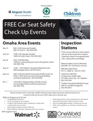 FREE Car Seat Safety Check Up Events - National Safety Council