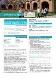 University of Sydney - Universities Admissions Centre
