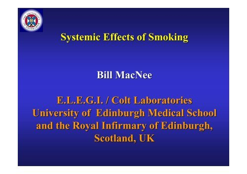 Systemic Effects of Smoking