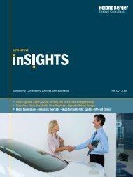 Automotive inSIGHTS 02/2009 - Roland Berger
