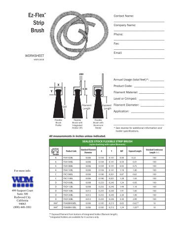 Ez-Flex Strip Brush - WDM, Inc.