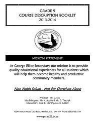 Grade 9 Course Catalogue 2013-14.pdf - George Elliot Secondary