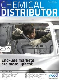 End-use markets are more upbeat - NACD