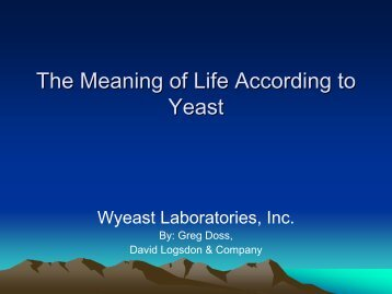 Yeast Growth - BJCP