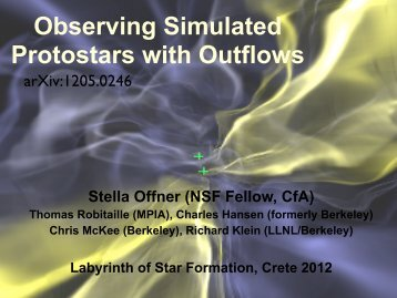 Observing Simulated Protostars with Outflows
