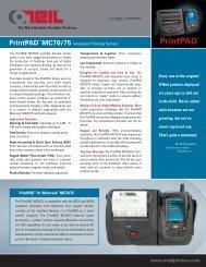 Print PAD MC70/75 - BlueStar