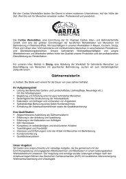 Stellenausschreibung Leitung Gartenbau - Caritas Werkstätten