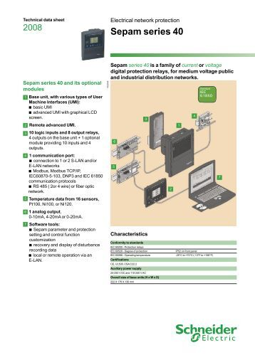 catalog protection relay sepam 80 datasheet schneider. Black Bedroom Furniture Sets. Home Design Ideas