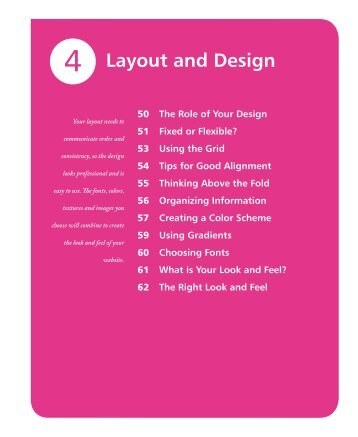 Layout and Design - In Easy Steps