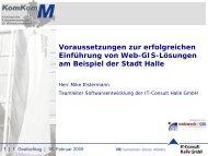 Voraussetzungen zur erfolgreichen Einführung von Web-GIS ...