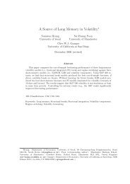 Chapter 9: A Source of Long Memory in Volatility - UNO CBA