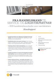 fra handelsmand til service- og logistikpartner - DI Handel