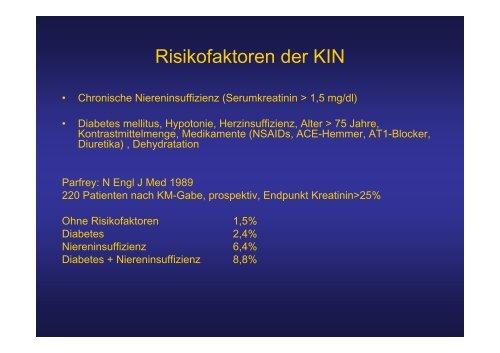 Kontrastmittel-induzierte Nephropathie (KIN)