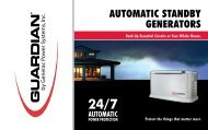 AUTOMATIC STANDBy GENERATORS - Vincents Heating and ...