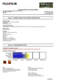 Chemwatch Australian MSDS 27-8852 - FUJIFILM Australia
