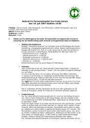 1 Referat fra formandsmødet hos Frede Schulz den 10. juli 2007 ...