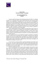 Relazione introduttiva - Sintesi - Europroject