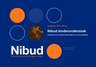 Nibud Kinderonderzoek 2013