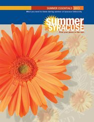 Summer Essentials 2013 (pdf) - SSUI - Syracuse University