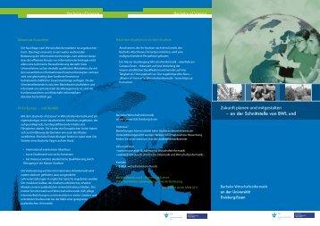Broschüre Bachelorstudiengang Wirtschaftsinformatik - an der ...