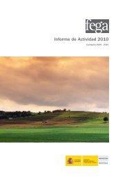Informe de Actividad 2010 - Fondo Español de Garantía Agraria